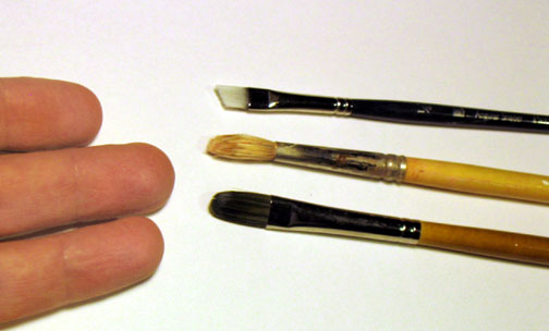 The best brushes for hand painting text on peace poles