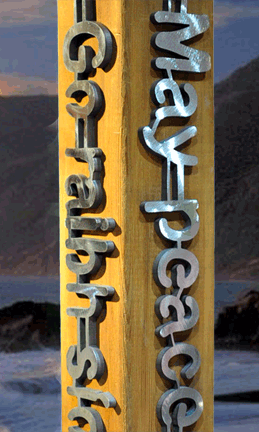 Garden peace pole with stainless steel peace pole languages